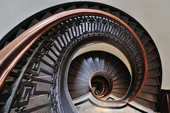 Mechanics' Institute Staircase (J-Fish) Tags: stairs spiral spiralstaircase sanfranciscomechanicsinstitute mechanicsinstitute stairway sanfrancisco california d300s 1685mmvr 1685mmf3556gvr