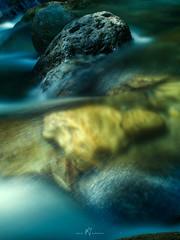 Boulders Over and Under (SGarriott) Tags: sgarriott scottgarriott olympus omd em5ii 1240mmf28 nature canada bc britishcolumbia creek water flow stream rocks boulders longexposure nd16