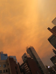 2019 Sunset Clouds After a 92 Degree Sunday 6414 (Brechtbug) Tags: 2019 sunset clouds after 92 degree sunday hells kitchen clinton near times square broadway nyc 07212019 new york city midtown manhattan snowing storms snowstorm winter weather building fog like foggy july summer hell s nemo southern view