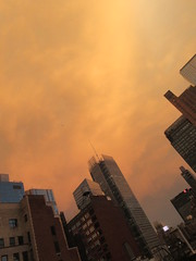 2019 Sunset Clouds After a 92 Degree Sunday 6413 (Brechtbug) Tags: 2019 sunset clouds after 92 degree sunday hells kitchen clinton near times square broadway nyc 07212019 new york city midtown manhattan snowing storms snowstorm winter weather building fog like foggy july summer hell s nemo southern view