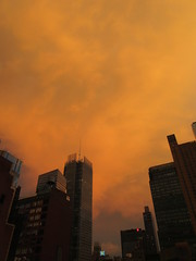 2019 Sunset Clouds After a 92 Degree Sunday 6403 (Brechtbug) Tags: 2019 sunset clouds after 92 degree sunday hells kitchen clinton near times square broadway nyc 07212019 new york city midtown manhattan snowing storms snowstorm winter weather building fog like foggy july summer hell s nemo southern view