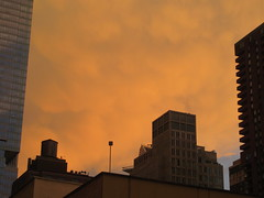 2019 Sunset Clouds After a 92 Degree Sunday 6399 (Brechtbug) Tags: 2019 sunset clouds after 92 degree sunday hells kitchen clinton near times square broadway nyc 07212019 new york city midtown manhattan snowing storms snowstorm winter weather building fog like foggy july summer hell s nemo southern view