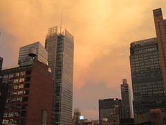 2019 Sunset Clouds After a 92 Degree Sunday 6396 (Brechtbug) Tags: 2019 sunset clouds after 92 degree sunday hells kitchen clinton near times square broadway nyc 07212019 new york city midtown manhattan snowing storms snowstorm winter weather building fog like foggy july summer hell s nemo southern view