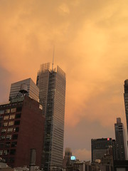 2019 Sunset Clouds After a 92 Degree Sunday 6394 (Brechtbug) Tags: 2019 sunset clouds after 92 degree sunday hells kitchen clinton near times square broadway nyc 07212019 new york city midtown manhattan snowing storms snowstorm winter weather building fog like foggy july summer hell s nemo southern view