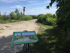 Plein Air, Bluffers Park, 2019-07-21 (light and shadow by pen) Tags: