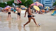 Players at the beach (alobos life) Tags: players ball copacabana nice beautiful cute brazilians boys garoto rio de janeiro brasil brazil beach playa mar sea