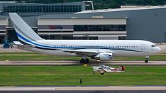 N767MW Boeing 767-200 and N659T Beech Bonanza V35B (SamCom) Tags: n767mw boeing 767200 n659t beech bonanza v35b b762 kdal dal lovefield