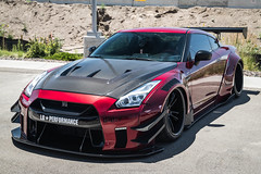 Liberty Walk (Hunter J. G. Frim Photography) Tags: supercar colorado nissan gtr r35 skyline gray blue red v6 japanese turbo wing awd nissangtr liberty walk