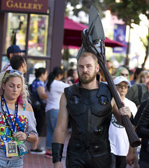 Speak softly and carry a big stick (San Diego Shooter) Tags: comiccon comiccon2019 sdcc sdcc2019 cosplay streetphotography bokeh portrait streetportrait sandiego comicconcostumes