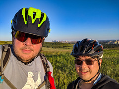 600km With Richard on Nosehill (djking) Tags: nosehill me 600km calgary sunglasses alberta richardwan cyclists park canada men