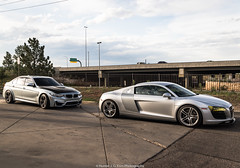 Silver Cars (Hunter J. G. Frim Photography) Tags: supercar colorado audi r8 v8 coupe silver german awd audir8 audir8v8 bmw m3 f80 v6 turbo sedan 4door bmwm3f80
