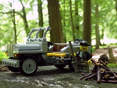 Gone Hunting (captain_j03) Tags: toy spielzeug 365toyproject lego minifigure minifig moc car auto jeep 6wide willysjeep