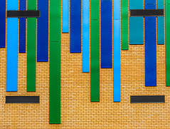 Stripes on wall (ainz1607) Tags: stripes building green blue minimal minimalism abstract orange