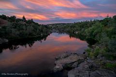 Folsom sunset from bridge (borders92109) Tags: sunset folsom lake natoma river clouds sky rocks california sacramento sony a7ii rokinon 20mm f18