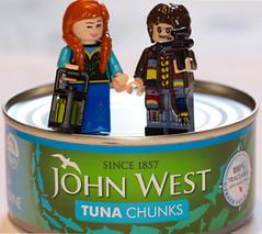 Masters of the Tuna-verse (Macro Monday - gone fishing) (alisonhalliday) Tags: food fish tuna lego miniaturefigures canoneos77d sigma105mm gonefishing macromondays littlepeople macro closeup