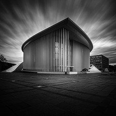 Luxembourg City Concert Hall (lja_photo) Tags: architecture architectural art abstract noperson urban city cityscape luxembourg luxembourgcity philharmonie exploration building exterior refections urbanexploration travel street streetphotography structure modern design fineart fujixt20 square picturesque white black monochrome monotone monoart moody mood europe reflections tourism ourluxembourg photography artificial sky shadows skyline dramatic kirchberg landmark longexposure contrast clouds visiteluxembourg blackandwhite bw bnw blackandwhitephoto backlight