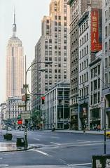 New York City in 1977 (Gösta Knochenhauer) Tags: 1977 september usa us america pentax spotmatic analog film color slide kodak kodachrome new0292anik new0292a nik new york city urban view