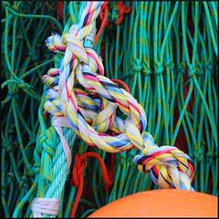rope and buoy, Lyme Regis (Philip Watson) Tags: lymeregis dorset seaside fishingnets fishing trawler harbour thecobb rope net