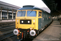 29/11/1979 - York. (53A Models) Tags: britishrail brush type4 class47 47555 thecommonwealthspirit diesel passenger york train railway locomotive railroad