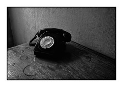 (David Ian Ross) Tags: 1969 telephone january texture patina table 746 black gpo grain ☎︎