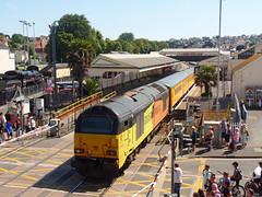 67027 & 67023 Paignton (2) (Marky7890) Tags: colasrail 67023 67027 class67 1q18 paignton railway devon rivieraline train