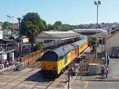 67027 & 67023 Paignton (3) (Marky7890) Tags: colasrail 67023 67027 class67 1z18 paignton railway devon rivieraline train
