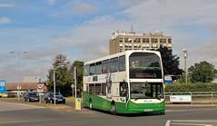 PN52 XBK, Ipswich Buses DAF 56, leaving Heath Road Hospital, 22nd. July 2019. (Crewcastrian) Tags: ipswich buses ipswichbuses transport heathroad hospital daf eastlancs lowlander pn52xbk 56 thomascobbold