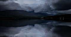 Midnightclouds. (joningic) Tags: clouds colors nature northiceland iceland night july 2019 akureyri water reflection north