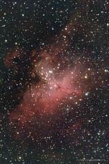 The Eagle nebula (Christian Gloor (mostly) underwater photographer) Tags: eagle nebula messier m16 deepspace pillarsofcreation telescope celestron avx 5se astrometrydotnet:id=nova3506311 astrometrydotnet:status=solved