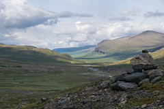 Kungsleden, Sweden (23-6-2019) (TijmOnTour) Tags: kungsleden sweden sverige lapland lappland sami sapmi reindeer bridge snow mountains clouds summer midsummer midnightsun trail hiking backpacking arcticcircle intothewild wilderness river lake water cold camping tent canyon exploring d3300 vandring norrbotten friends signs view landscape laponia unesco wildlife worldheritage nature rocks waterfall