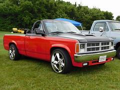 1990 Dodge Dakota Convertible (splattergraphics) Tags: 1990 dodge dakota convertible pickup truck custom mopar carshow midatlanticmoparmeet masondixondragway boonsboromd