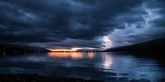 Cloudy night (joningic) Tags: akureyri pollurinn sky sea light iceland clouds nature northiceland sun sunset night