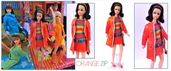 ORANGE ZIP (ModBarbieLover) Tags: orange zip francie doll 1968 1971 1972 fashion mod mattel sears excklusive toy 1960s brunette flip