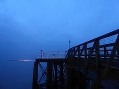 Landing jetty, Hull Corporation Pier.   July 2019 (dave_attrill) Tags: pier jetty waterfront princesdock ferryterminal hull eastyorkshire yorkshire humberside humber july 2019 night corporationpier water river