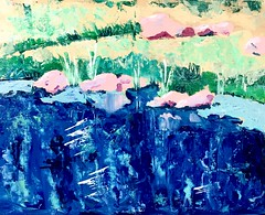 On the Brink (lwdphoto) Tags: lance duffin lancewadeduffin lanceduffin landscape pond shore rocks graphite drawing art sketch sketching acrylic openacrylic painting