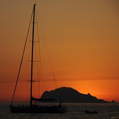 too perfect (gicol) Tags: isola isla island eolie ginostra alba amanecer dawn sunrise boat sailing barca vela sicilia sicily mare sea mediterraneo