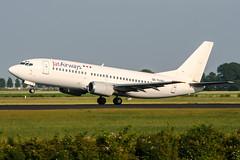 YU-ANJ (PlanePixNase) Tags: amsterdam ams eham schiphol planespotting airport aircraft jat boeing 737 737300 b733