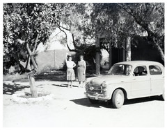 VINTAGE OLD CAR .  INFORMATION WELCOME (JOHN MORGANs OLD PHOTOS.) Tags: vintage found photo old photos unusual unknown unique interesting johnmorgan location car bw black and white