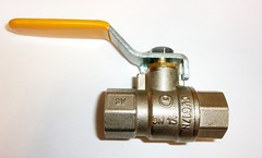 """1/2"""" (DN15), BALL VALVE, BRASS NICKEL PLATED, BSPP, PN50, LEVER, 2 PIECE (Valve Center) Tags: ball valve 2 two piece center lever operated merseyside st helens runcorn widnes bspp dn15 15mm pn50 brass nickel plated"""