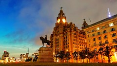 Liverpool at Night (pallab seth) Tags: liverpool architecture waterfront merseyside portcity heritage unescoworldheritagesite landscape cityscape evening england city summer tourism touristdestination mobilephotography merseyferries night