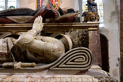 Titchfield, Hampshire, St. Peter's, Wriothesley monument, north face, effigy of Henry Wriothesley, 2nd Earl of Southampton, †1582, detail (groenling) Tags: titchfield hampshire hants england britain greatbritain gb uk stpeters monument tomb marble alabaster johnson janssen wriothesley earl southampton honey garter effigy armor
