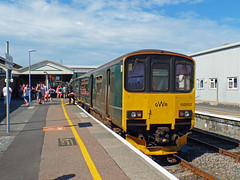 150002 Paignton (1) (Marky7890) Tags: gwr 150002 class150 sprinter 2f47 paignton railway devon rivieraline train