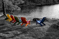 Unashamed (KWPashuk (Thanks for >3M views)) Tags: sony alpha a6000 1650mm kit lens lightroom luminar luminar2018 luminar3 luminar31 kwpashuk kevinpashuk muskoka ontario chair chairs canada cottage lake sunset goldenhour nature outdoors colours colors