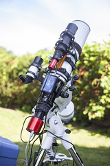 Astrophotography Telescope (AstroBackyard) Tags: telescope astrophotography camera skywatcher esprit 100 refractor apo apochromatic 100mm astronomy space night setup mount equipment gear
