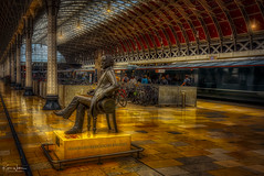 Isambard Kingdom Brunel (Kev Walker ¦ Thank You 4 Comments n Faves) Tags: station paddington london england train transport city public travel railway transportation rail uk europe architecture tube platform urban building railroad blurred subway underground metro britain speed tourism movement blur old british roof pin town network landmark express capital district cartography topography traffic kingdom map geography united industry people commute arch