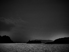 Before the Storm.. (Julie Rutherford1 ( off/on )) Tags: sea islets julie rutherford hebrides inner lismore island loch scotland black white