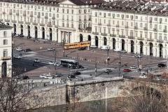 Turijn, Piazza Vittorio Veneto. (parnas) Tags: turijn torino italia piazzavittorioveneto riverpo po trams traffic bridge arcades