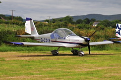 G-CDIY EV-97 Eurostar (eigjb) Tags: derryogue airfield kilkeel codown ireland flyin light aircraft airplane plane spotting aviation aeroplane 2019 mourne flying club gcdiy ev97 eurostar microlight