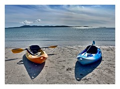 Men overboard? (john.methven) Tags: eriskay beach hebrides island kayak canoe boat sand travel