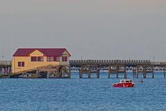 D21553.  Former Lifeboat House. (Ron Fisher) Tags: lifeboathouse mumbles swanseabay cymru wales southwales sea seaside evening eveninglight sky pier sunset sunsetlight panasoniclumixfz1000 panasonic lumix fz1000 gb greatbritain uk unitedkingdom europe europa gower coast baeabertawe mwmbwls gŵyr